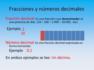 Fracciones y números decimales