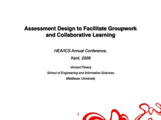 Assessment Design to Facilitate Groupwork and Collaborative Learning  HEA