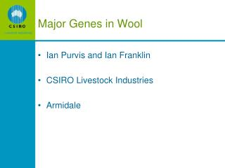 Major Genes in Wool