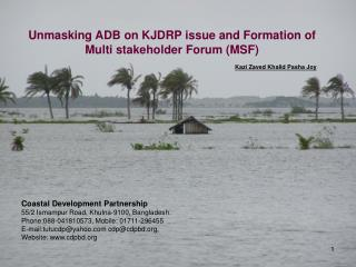Unmasking ADB on KJDRP issue and Formation of Multi stakeholder Forum (MSF)