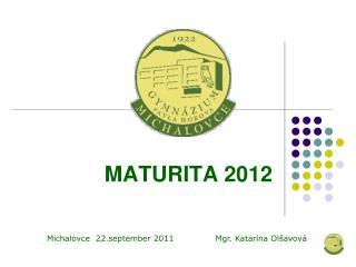 MATURITA 2012