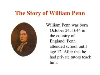 The Story of William Penn
