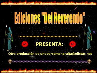 """Ediciones """"Del Reverendo"""""""