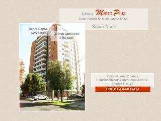 2 Dormitorios, 2 baños Estacionamiento Subterráneo Nro. 63 Bodega Nro. 73