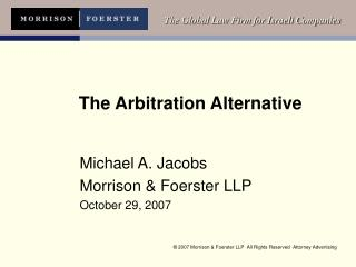 The Arbitration Alternative