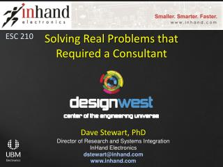 Solving Real Problems that Required a  Consultant