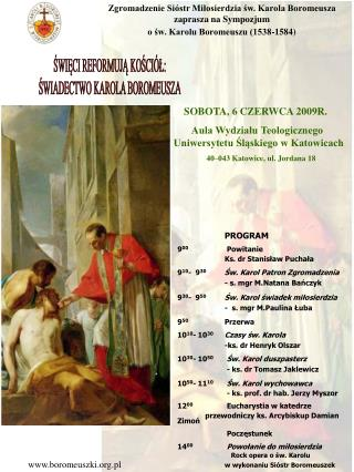 Zgromadzenie Sióstr Miłosierdzia św. Karola Boromeusza zaprasza na Sympozjum