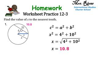 Worksheet Practice 12-3