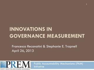 Innovations in governance measurement