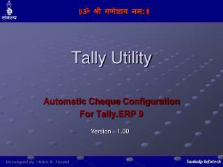 Tally Utility