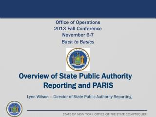 Overview of State Public Authority Reporting and PARIS