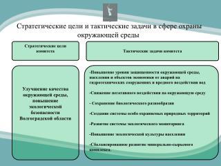 Стратегические цели и тактические задачи в сфере охраны окружающей среды