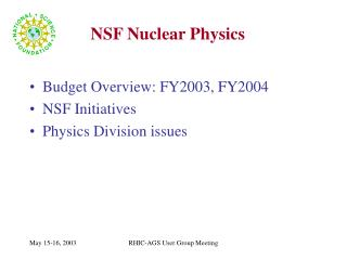 NSF Nuclear Physics