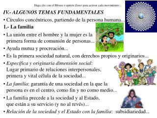 IV.- ALGUNOS TEMAS FUNDAMENTALES