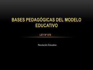 Bases pedagógicas del modelo educativo