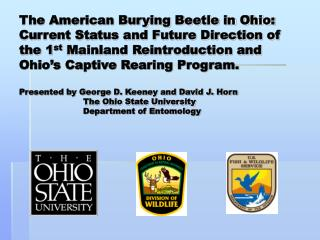 The American Burying Beetle in Ohio: Current Status and Future ...