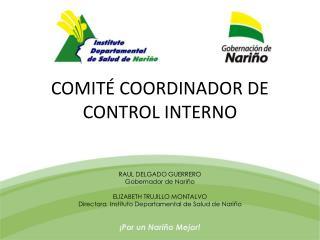 COMITÉ COORDINADOR DE CONTROL INTERNO