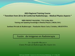 Fusión   de Imágenes en Radioterapia