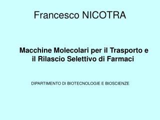 Francesco NICOTRA