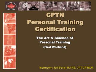 CPTN  Personal Training Certification
