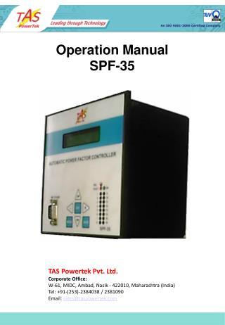 Operation Manual SPF-35