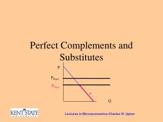 Perfect Complements and Substitutes