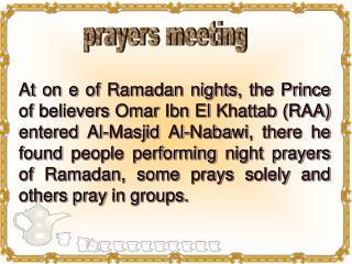 prayers meeting