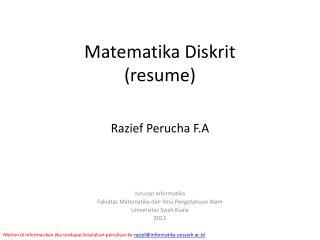 Matematika Diskrit (resume)