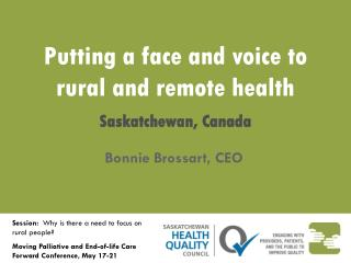 Putting a face and voice to rural and remote health