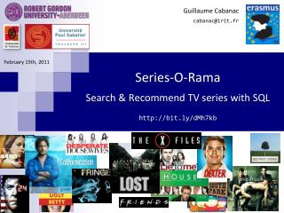 Series-O-Rama Search & Recommend TV series with SQL bit.ly/dMh7kb