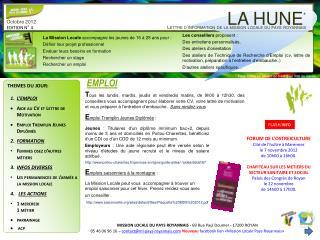 Octobre  2012 EDITION N° 4