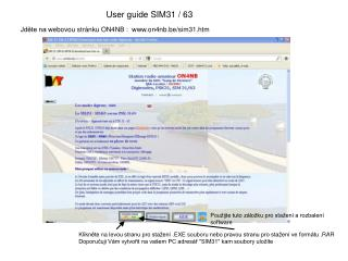 User guide SIM31 / 63