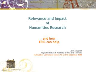 Relevance and Impact  of  Humanities Research