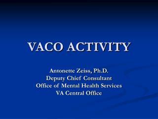 VACO ACTIVITY