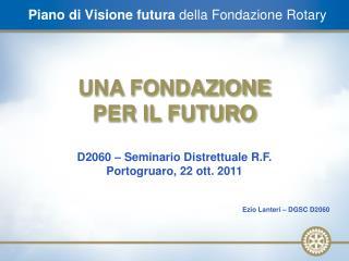 Piano di Visione futura  della Fondazione Rotary