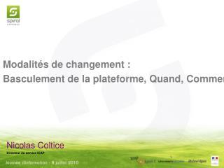 Nicolas Coltice Directeur du service iCAP