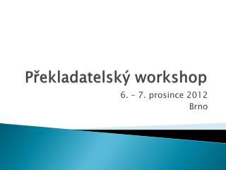 Překladatelský workshop