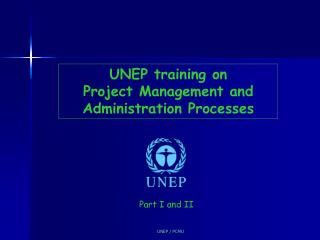 UNEP training on  Project Management and Administration Processes