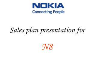 Sales plan presentation for