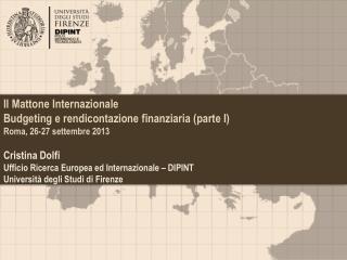 Il Mattone Internazionale Budgeting  e rendicontazione finanziaria (parte I)