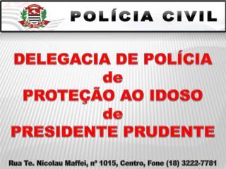 DELEGACIA DE POLÍCIA  de  PROTEÇÃO AO IDOSO  de  PRESIDENTE PRUDENTE