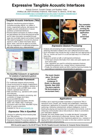 Expressive Tangible Acoustic Interfaces