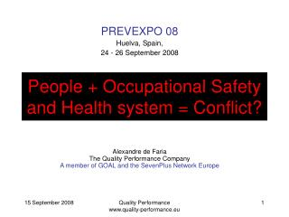 People + Occupational Safety and Health system = Conflict?