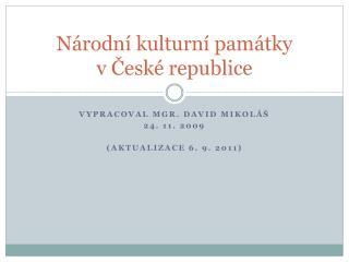 Národní kulturní památky v České republice