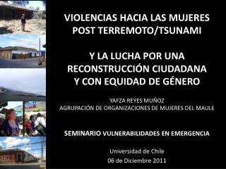 Universidad de Chile 06 de Diciembre 2011