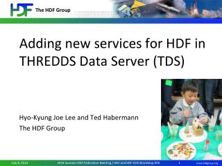 Adding new services for HDF in THREDDS Data Server (TDS)
