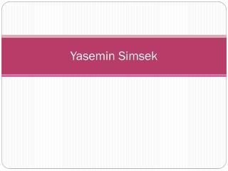 Yasemin Simsek
