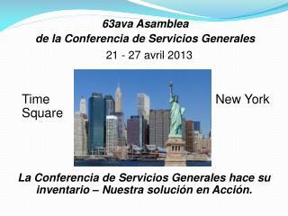 63ava Asamblea  de la Conferencia de Servicios Generales