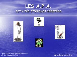LES A.P.A. activit s physiques adapt es