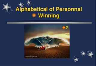 Alphabetical of Personnal Winning